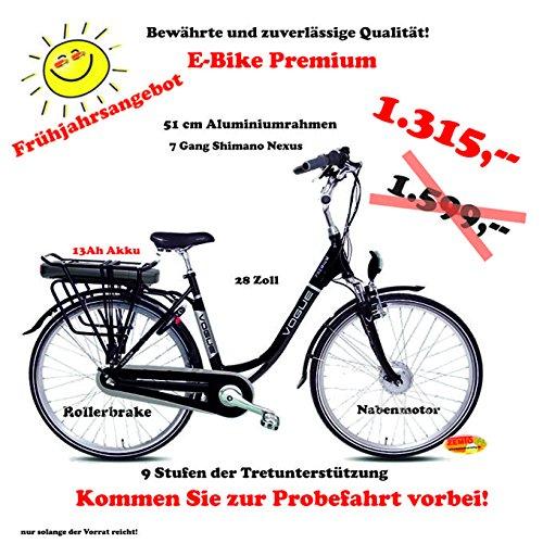 FRÜHJAHRSANGEBOT : Elektrofahrrad Vogmas Premium 7 Gang Mattschwarz