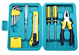 #10: NOVICZ 12 Pcs Home Tool Set with Box / Home Repair Tool Kit with Carry Case