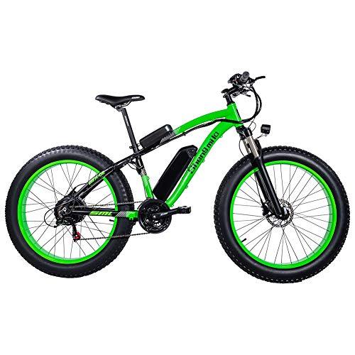 GUNAI Bicicletas Electricas Neumaticos Bicicleta 26 Pulgada 500w 48V 17AH Bateria Litio Frenos de Disco...