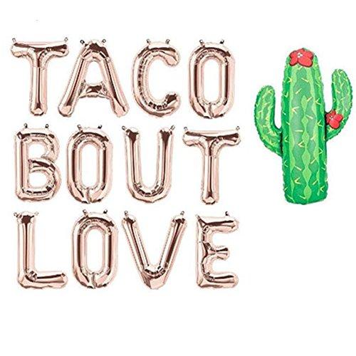40,6cm Taco unterbug Love Luftballons, Taco Party Dekorationen Schild, Bridal Dusche Banner Dekoration, Engagement Party Dekorationen, Fiesta Cinco De Mayo, Rose Gold