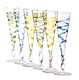 Abigails Rialto Champagne Flutes Spiral,...