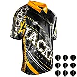 Target Adrian Lewis Coolplay Shirt XS-4XL, incl. 3 Satz MS-DARTSHOP Flights (XL)