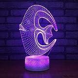 7 Farbwechsel Neuheit Usb Kinder Nacht 3D Led Riff Fisch Modellierung Schreibtischlampe Nachtlicht Dekor Geschenke Lamparas Leuchten Lbonb