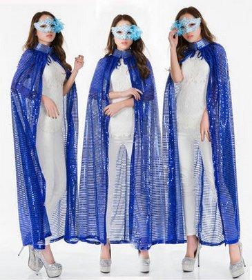 Beauty - bekleidung abend umhang Champions Awards umhang - Bühne - farb - pailletten - umhang göttin kostümen(Blauer (Todes Des Kostüm Göttin)