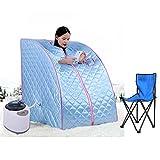 Flyelf Tragbare Mobile Dampfsauna Personal Spa Body Heater Entgiften Abnehmen Gewicht Home Zimmer 98 x 70 x 80 cm 1.8L (Blau)
