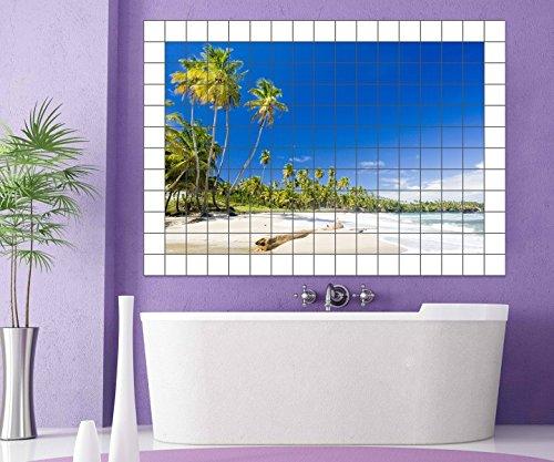 ... Strand Fliesenaufkleber 10 15 20 25 Cm Fliesenbild Meer Wasser Palmen  Sand Fliesen Bilder Aufkleber Bad