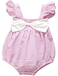 Niña bebé vestido,Sonnena rayas tops de sin manga vestido para chica bebé estilo casual