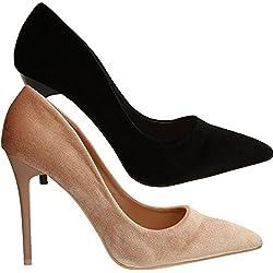 SwankySwans , Damen Pumps , gold - schwarz - Größe: 40