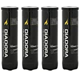 DIADORA® Classic Tennis Balls 4 Air Tight Sealed Storage Tubes (16 Balls) - Suitable for All Types of Playing Surface