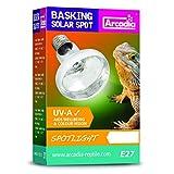 Arcadia Reflektorlampe 50 Watt Spot E27 Reptilien Basking Solar UVA Terrarium Vivarium