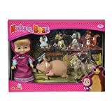 SIMBA 109301020 Masha and Her Animal Friends - Doll Game (7 Pieces)