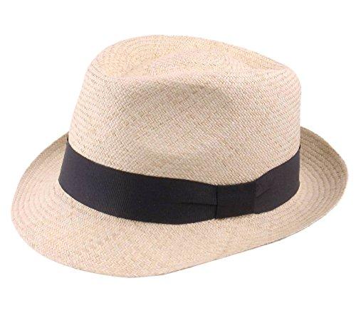 Classic Italy Authentique Chapeau Panama, tressage Traditionnel en Équateur - 5 Coloris - Homme ou Femme Panama Cubano