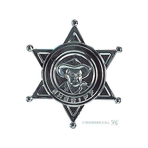Sheriff Stern aus Metall zum Wilder Westen Cowboy (Dress S Fancy Ideen Kostüm)