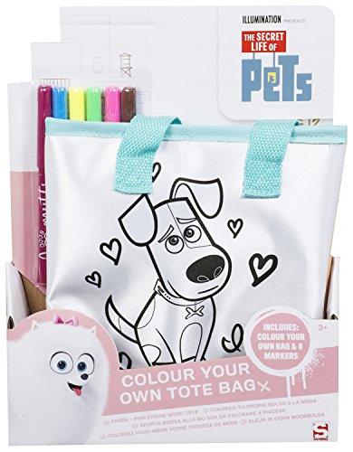 Secret Life of Pets Kinofilm Tasche zum selber bemalen Max und Gidget (T-shirt Sandwich-kinder)