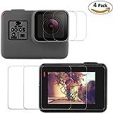 Fixget 4 Pcs Screen Protector (Screen And Lens) For Hero5 Black / Hero 6