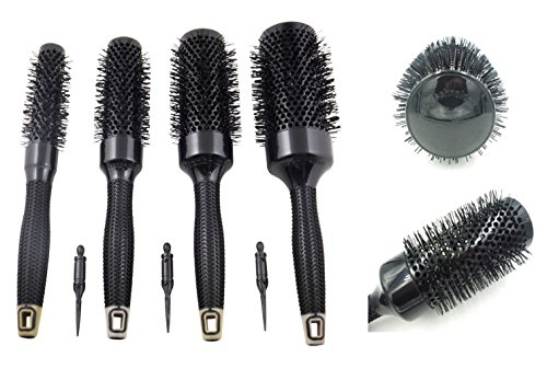 Stellen Sie Alunimium Ceramic Hair Round Bürsten-Gummigriff-Haar-Schlag-Trockenbürste ein Set Alunimium Ceramic Hair Round Brushes Rubber Handle Hair Blow Dry Brush (Brush Dry Blow)