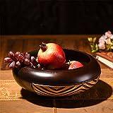 LOSTRYY Round legno massello di legno piatto di frutta Frutta fatte a mano snack piastra piastra piastra i dadi,