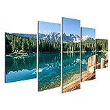 Bild Bilder auf Leinwand Karersee in Italien Dolomiten