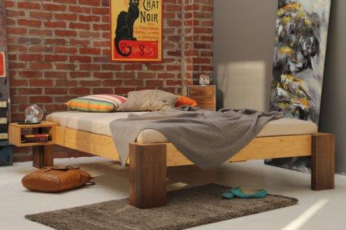 HAVANNA Bambusbett ohne Rückenlehne 120x200cm, Höhe 40cm