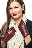 Nappa Leder Reißverschluss Handschuhe für Frauen