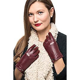 Nappa Leather Zipper Glove For Women, Touchscreen Cold Weather – Thinsulate Lined Gloves