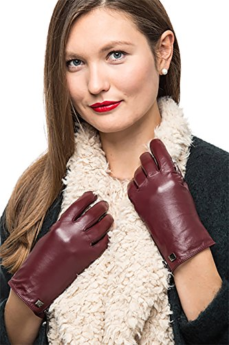- 51laI4jK22L - Nappa Leather Zipper Glove For Women, Touchscreen Cold Weather – Thinsulate Lined Gloves