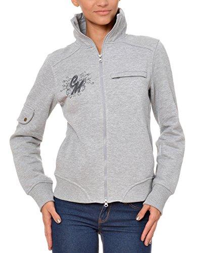 M.Conte Damen Sweat-Shirt Sweater Sweat Karen Grey Melange Größe M