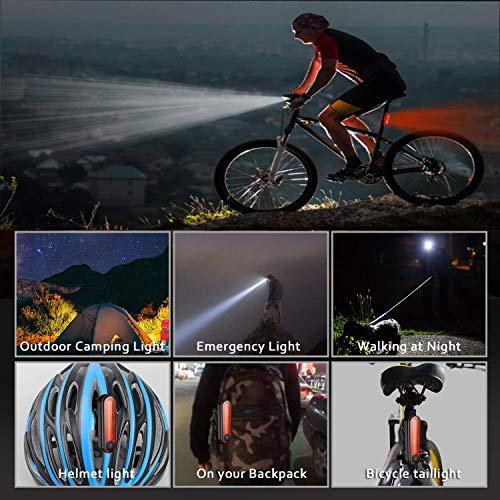 Luce Bici a LED Ricaricabile USB,COOLGIRL Set Luce Bici LED con 400 lumen & Resistente all'acqua IP65,per Fanale Bici Strada e Montagna-Soddisfa le Specifiche Tedesche StVZO