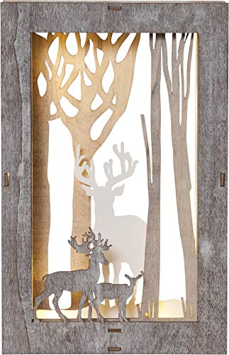 Star Fauna Dekobild, Holz, weiß