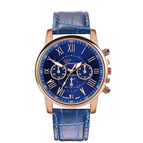 Herren Damen Armbanduhr, Paticess Unisex Luxus-Mode Lederband Quartz Analoge Uhren für Frauen Männer