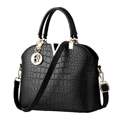 Di Modo Delle Signore Di Grande Capienza Messenger Bag Multi-color Black