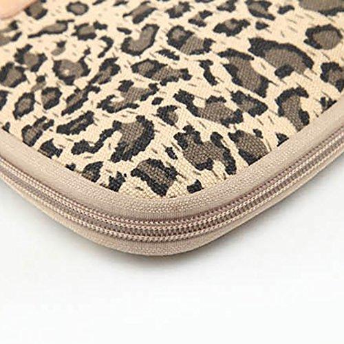 Baymate Unisex Tasche Mit Leopard Muster Macbooktasche Für 11.6-15 Netbook / Laptop / Notebook Computer 12 Zoll Leopard Streifen