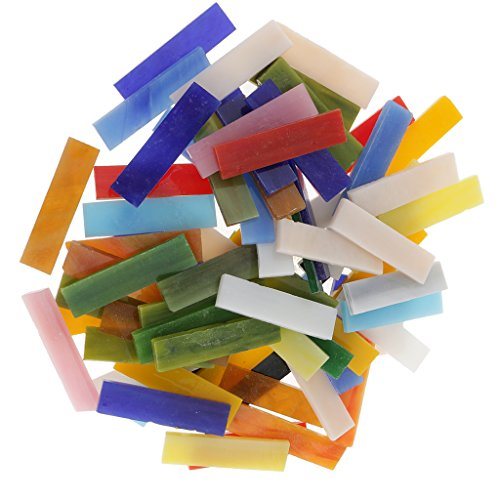MagiDeal 70pcs Tuiles De Mosaïque Verre Coloré Mixte Forme Rectangle DIY Artisanat