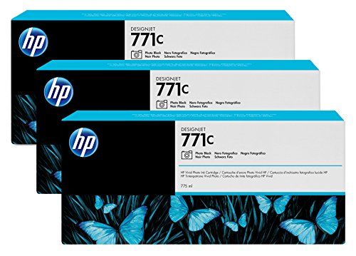 Preisvergleich Produktbild HP 771C Multipack Original Druckerpatronen mit hoher Reichweite (3x Fotoschwarz) für HP DesignJet