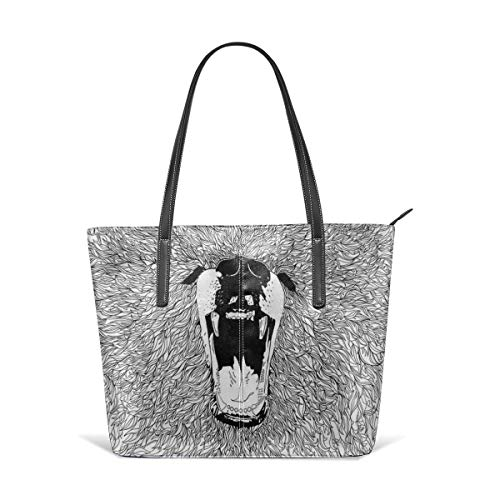 Sotyi-ltd Grizzly Fineliner Illustration Strand Tote Bag Travel Tote Bag Toy Tote Shopping Tote Schultertasche für Damen und Mädchen