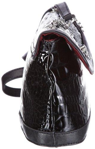 Tamaris BRISEIDE Shoulder Bag A11201001, Damen Schultertaschen 27x26x9 cm (B x H x T) Schwarz (Black 001)