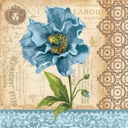 Poppy von Gorham, GREGORY–Fine Art Print erhältlich auf Leinwand und Papier, canvas, SMALL (12 x 12 Inches )