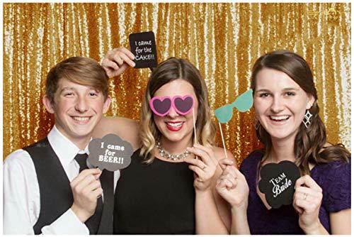 (ShinyBeauty 180x215cm Gold Pailletten-Hintergrund Fotografie-Hintergrund, 1,8 x 2,1 m, gold, Vintage, für Ball oder Hochzeitsfeier, Gold 6FTx7FT)