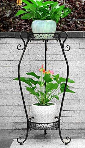 Pergola flower flower Im europäischen Stil Wohnzimmer mehrstöckige Töpfe (Farbe : Schwarz, größe : 42 * 85cm)