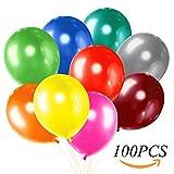 GLOBO de aire cxvwons 100unidades, globos boda Globo Aerostático Party látex globos metálico Multicolor Globos de colores Globos juguete para niños Cumpleaños Boda Fiesta de cumpleaños, bodas y fiestas (Multicolor)