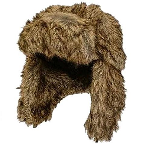 crazygadget® Viz Bonnet de trappeur en fausse fourrure d'hiver chaud de ski pour homme crossack Mesdames Unisexe Style