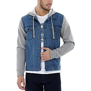 Zobello Men's Denim Hooded Jacket Best Online Shopping Store