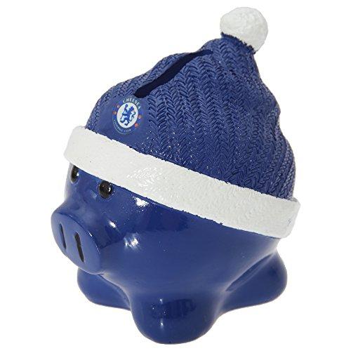 Preisvergleich Produktbild Keramik-Spardose / Sparschwein mit Chelsea FC Fußball-Design (Einheitsgröße) (Dunkelblau/Weiß)