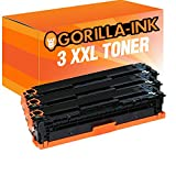 Gorilla Ink 3 Toner XXL compatibile per HP CB540A 125A   adatto per HP Color LaserJet CM1312NFI CP1215 CP1515N   Nero 2.200 pagine ciascuno