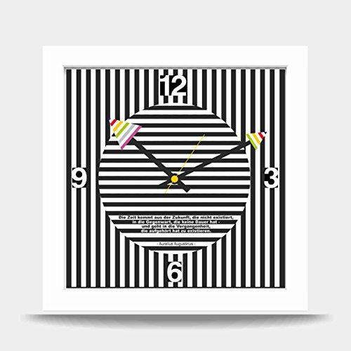 Zukunft Von Design (Ausgefallene Wanduhr Uhr Uhrenbox Design-Uhr Zukunft weiss)