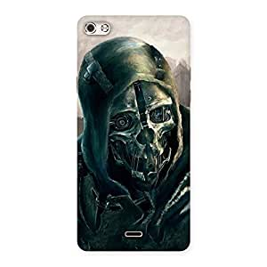 Delighted Deadly Skull Back Case Cover for Micromax Canvas Silver 5
