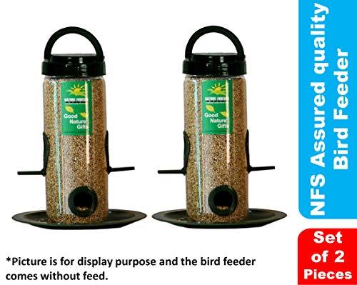 Nature Forever Bird Feeder, Transparent (2 Pieces)