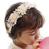 Amison diadema para niña, venda flor pelo perla banda cordón muchachas de las vendas Accesorios para el cabello (rosa)