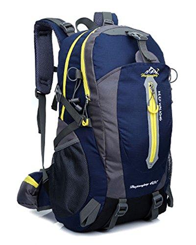 Ben Sports 40L Large Capacity Wandern Rucksack für Männer und Frauen, Outdoor Breathable Wasserdichte Rucksack, Wandern Daypack Navy blau