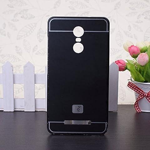 EKINHUI Huawei Mate 7 Coque; Luxe M¨¦tal Aluminium Bumper Coque d¨¦tachables + Hard Back 2 en 1 Ultra Cover chassis mince pour Huawei Mate 7(Black)